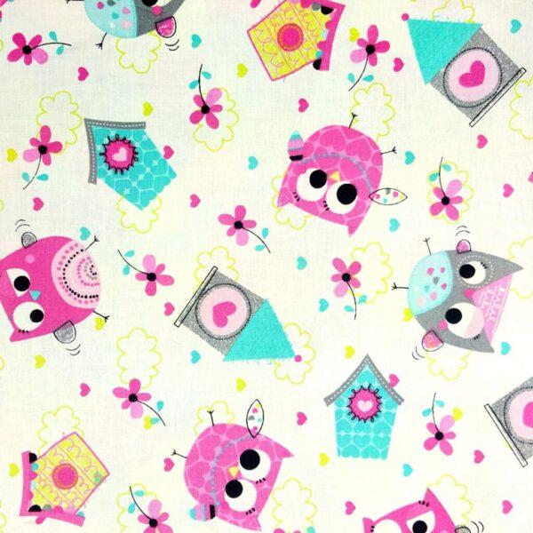 Owl School - Cotton print (2088)