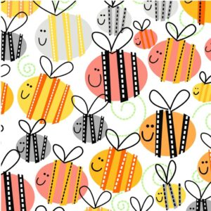 Busy Bees Cotton Print (2205)