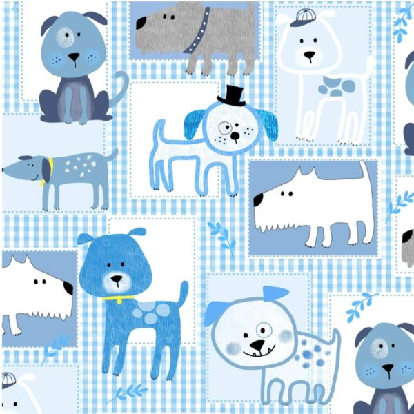 Gingham Dog - Cotton Print (2210)
