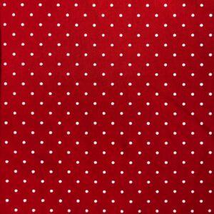 Red Polka Dot - Cotton Spandex (2364)