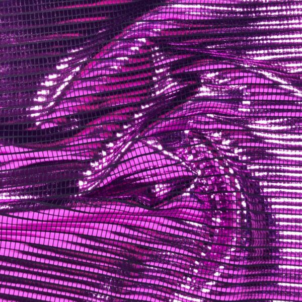 Purple Foil Tile - Poly Spandex (2434)